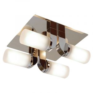 Endon EL-20043 Ip44 Chrome G9 Ceiling 4Lt9 (Inc Bulb) 4 Light In Chrome