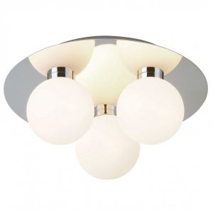 Endon EL-392-3CH Circ/Op Gls 25W G9 Ip44 Flush 3 Light In Chrome