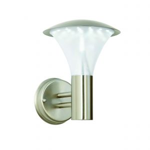 Francis Single LED Outdoor Wall Light Brushed Stainless Steel/Frosted Finish