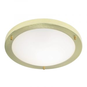 Endon EL-440-30BB Ip44 30Cm Flush Fitting Brushed Brass 1 Light In Brass
