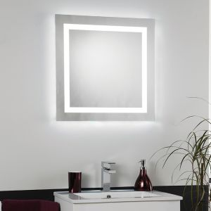 Endon EL-CABRERA Ip44 Rated Backlit Bathroom Wall Mirror 112 Light In Mirror