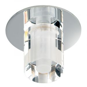Endon EL-IP-4000 Ch/Crystal Ip65 Recess Fitt. 1 Light In Chrome