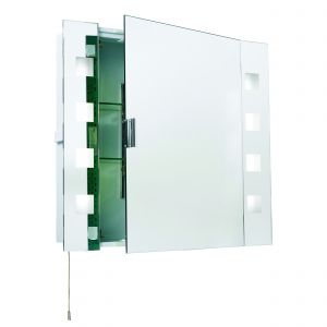 Milos Bathroom Cabinet Mirrored/Frosted Glass Finish