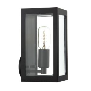 DAR ERA0722 Era Single Outdoor Wall Light Black/Clear Glass Finish