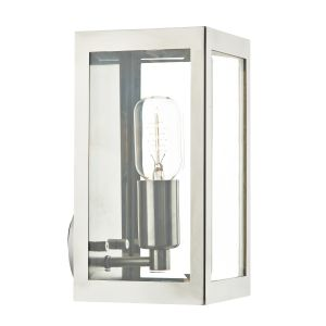 DAR ERA0744 Era Single Outdoor Wall Light Stainless Steel/Clear Glass Finish
