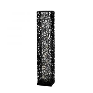 Diyas Home IL70388 (DH) Essen Floor Lamp 12 Light Black/Silver