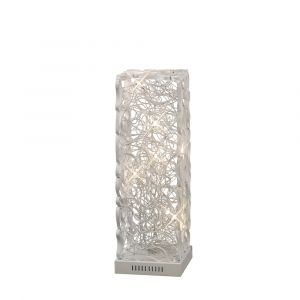 Diyas Home IL70389 (DH) Essen Table Lamp 6 Light White/Silver