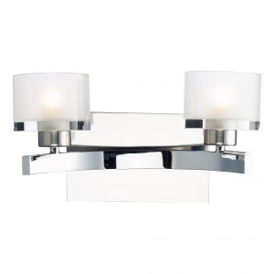 DAR ETO0950 Eton Double Wall Light Polished Chrome/Clear Glass Finish Switched