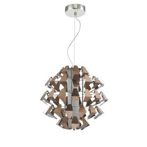 Dar FAL8663 Falcon Single Pendant Suspension Bronze LED Finish