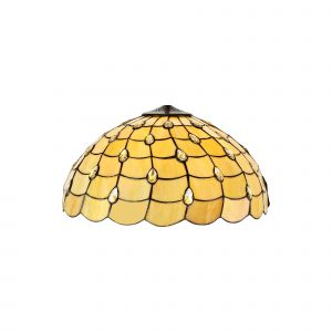 Nu Regis, Tiffany 50cm Non-electric Shade Suitable For Pendant/Ceiling/Table Lamp, Beige/Clear Crystal