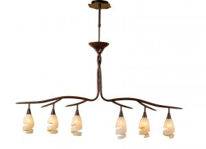 *## (0017 003) Gaudi Telescopic 2 Arm 6 Light G9, Brown/Black Oxide
