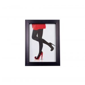 Diyas Home IL70516 (DH) Glamour Red Shoes,  Black Frame,  Red Crystal
