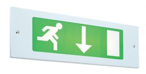 Saxby GRI8M3 Single 8W Recessed Maintained Fire Exit Sign Emergency