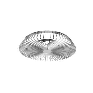 Himalaya 70W LED Dimmable Ceiling Light With Built-In 30W DC Fan, c/w Remote Control and APP Control, 3000lm, Silver , 5yrs Warranty