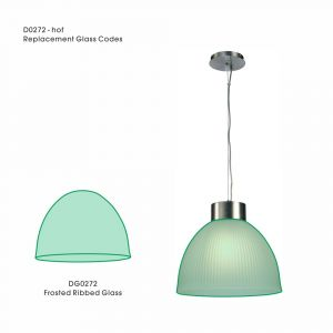 Deco DG0272 Hof Replacement Frosted Ribbed Glass For D0272