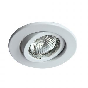 Deco D0035 Hudson GU10 Adjustable Downlight White (Lamp Not Included)