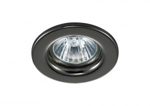 Deco D0038 Hudson GU10 Fixed Downlight Black Chrome (Lamp Not Included)