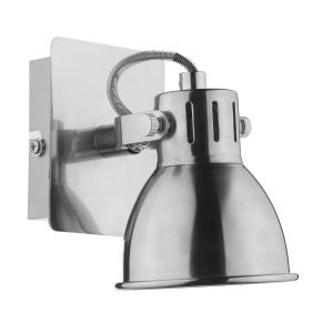 DAR IDA0746 Idaho Single Wall Light LED Chrome Finish Switched