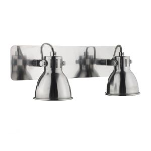 DAR IDA7746 Idaho Double Wall Light Chrome Finish Switched