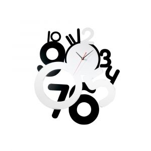 Diyas Home IL70092 (DH) Infinity Funky Clock Black/Silver