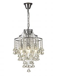 Diyas IL30771 Inina Pendant 4 Light Polished Chrome/Crystal