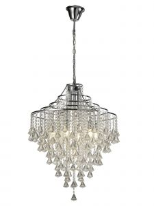 Diyas IL30772 Inina Pendant 7 Light Polished Chrome/Crystal