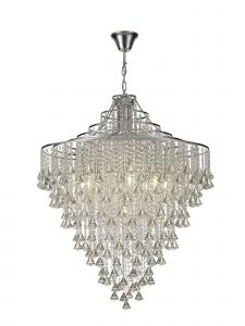 Diyas IL30773 Inina Pendant 9 Light Polished Chrome/Crystal