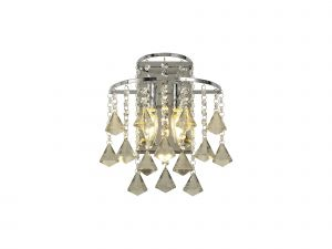 Diyas IL30774 Inina Wall Lamp Switched 2 Light Polished Chrome/Crystal