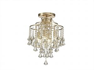 Diyas IL32770 Inina Ceiling 4 Light E14 French Gold/Crystal