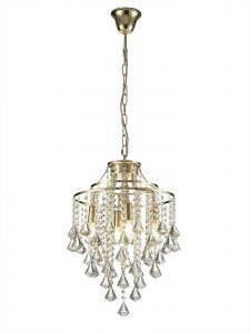 Diyas IL32771 Inina Pendant 4 Light E14 French Gold/Crystal