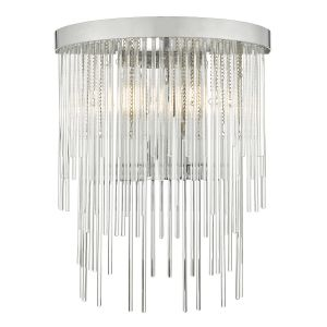 Dar ISL0950 Isla Double Wall Light Polished Chrome And Clear Glass Finish