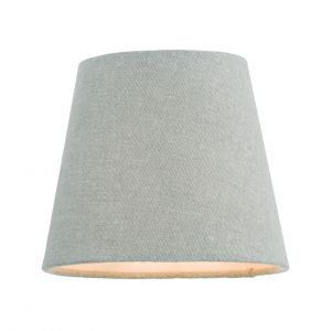 DAR JOA2639 Grey 13cm Linen Tapered Drum Shade