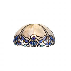 Nu Molly, Tiffany 30cm Non-electric Shade Suitable For Pendant/Ceiling/Table Lamp, Blue/Clear Crystal