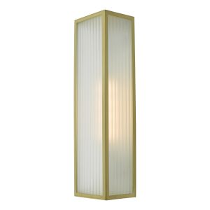 Dar KEE5041 Keegan Single Bathroom Wall Light Satin Brass Finish