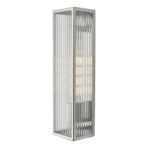 Dar KEE5044 Keegan Single Bathroom Wall Light Polished Stainless Steel Finish