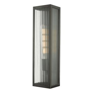 Dar KEE5063 Keegan Single Bathroom Wall Light Rubbed Bronze Finish