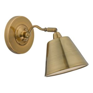 DAR KEM0775 Kempten Single Wall Light Antique Brass Finish