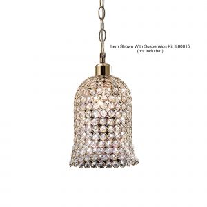 Diyas IL30760 Kudo Bell Non-Electric SHADE ONLY French Gold/Crystal