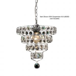 Diyas IL60018  Kudo Crystal Ring Non-Electric SHADE ONLY Polished Chrome/Crystal