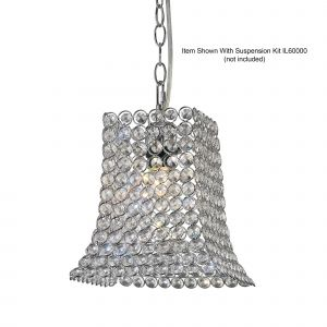 Diyas IL60019 Kudo Crystal Curved Trapezium Non-Electric SHADE ONLY Polished Chrome/Crystal