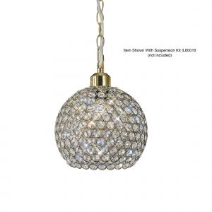 Diyas IL60032 Kudo Crystal Ball Non-Electric SHADE ONLY Antique Brass/Crystal