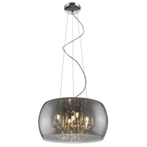 Alfred 5 Light Adjustable, Dimmable G9 Polished Chrome Pendant