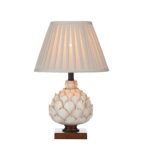 DAR LAY4133-X Layer Single Table Lamp Cream Finish