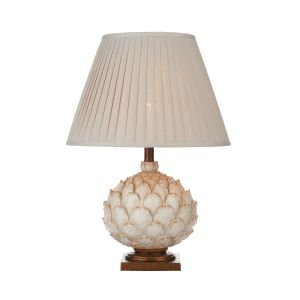 DAR LAY4233-X Layer Single Table Lamp Cream Finish