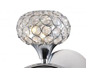 Diyas ILG30951 Leimo Shade Polished Chrome / Crystal