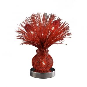 Diyas Home IL70075 (DH) Lenore Table Lamp 4 Light Red/Polished Polished Chrome