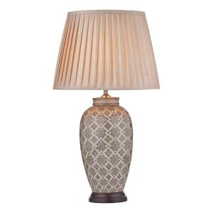 DAR LOU4229 Louise Single Table Lamp (Base Only) Brown Finish