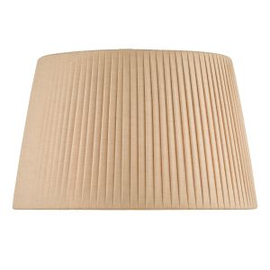 Lyzette Taupe Faux E27 Silk Tapered Drum Shade 36cm