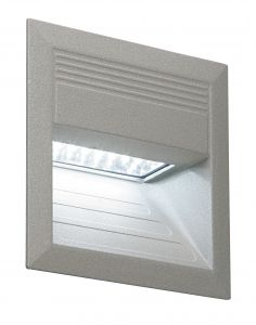 Saxby M002W Liam Single IP54 Outdoor Recessed Light Textured Grey Finish
