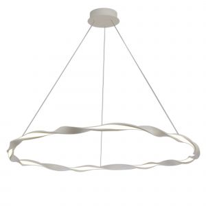 Mantra M6570 Madagascar Pendant, 46W LED, 3000K, 3220lm, IP20, Sand White, 3yrs Warranty